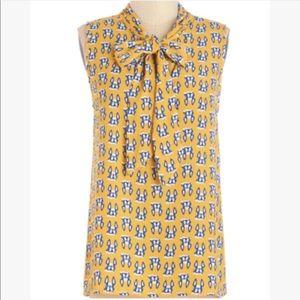 🆕 ModCloth Frenchie Tie Neck Blouse